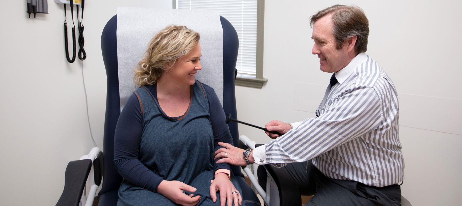 A provider meets with a patient