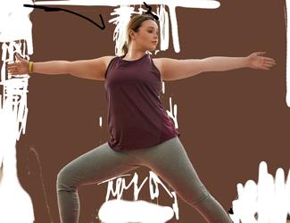 A teen does yoga