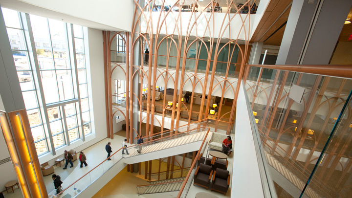 Duke Cancer Center atrium