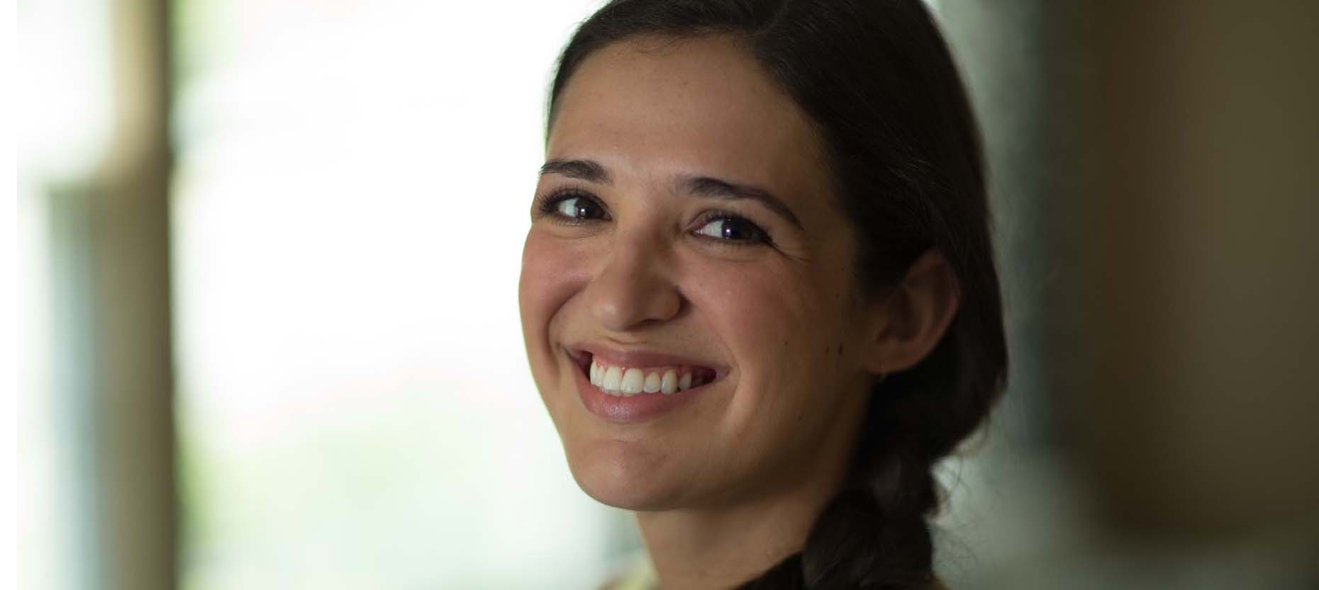 Thanks to Lasik, Cristina Leon was free of glasses at her wedding