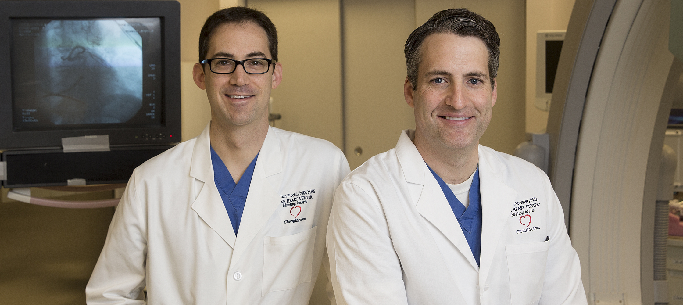 Duke electrophysiologists Jonathan Piccini, MD, and Brett Atwater, MD