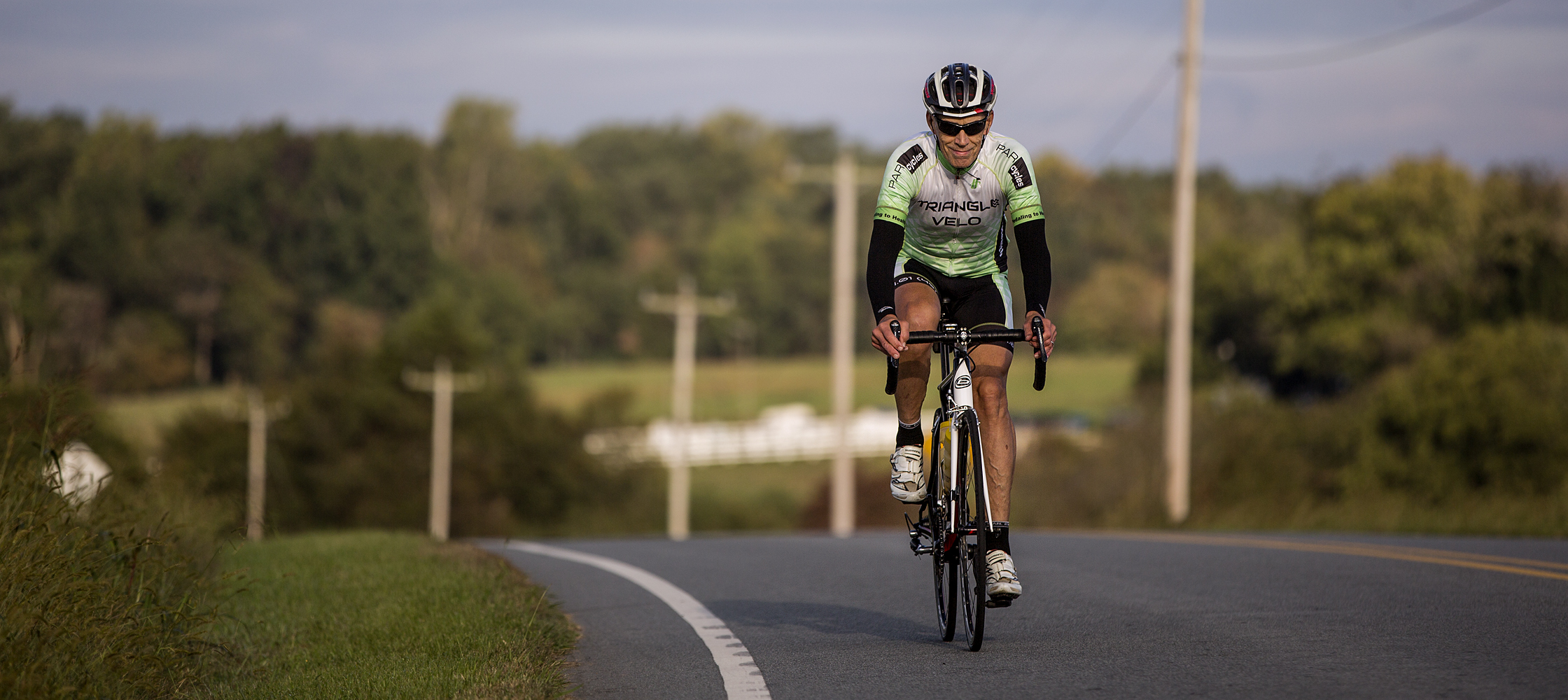 Peter Leousis is back to cycling after hip replacement surgery at Duke