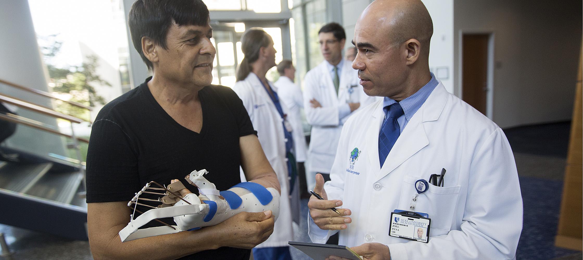 First hand transplant recipient in North Carolina at Duke