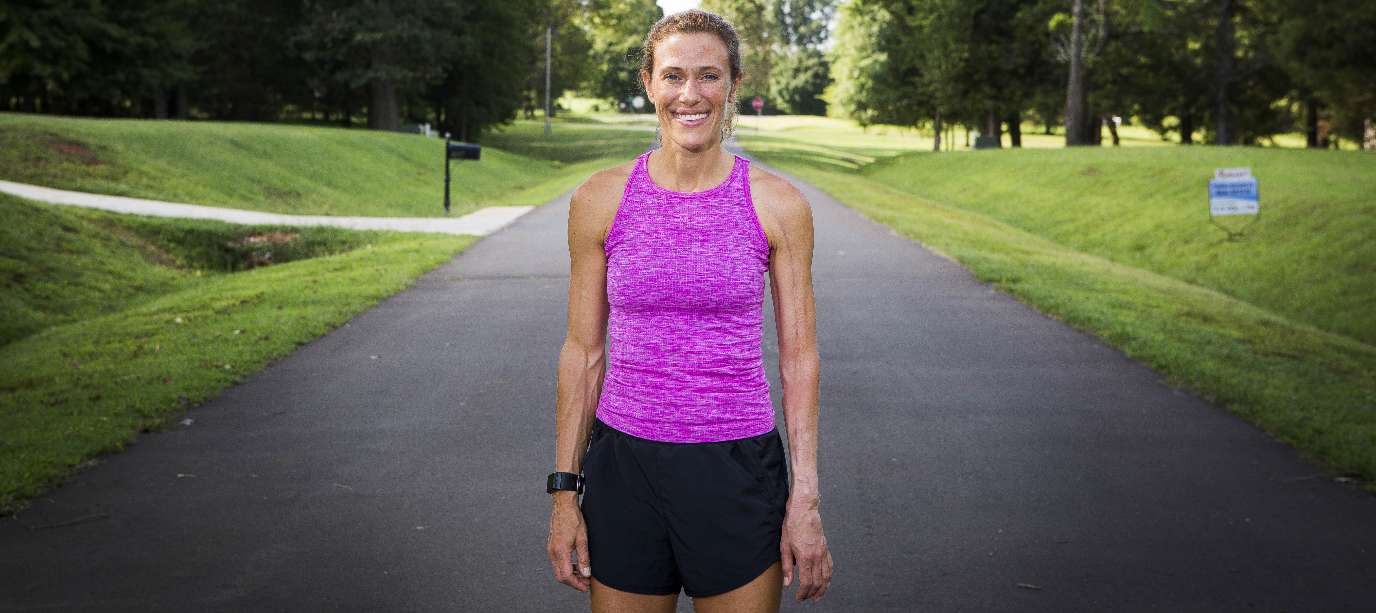 Beth Hufner is training for a marathon after a  devastating injury.