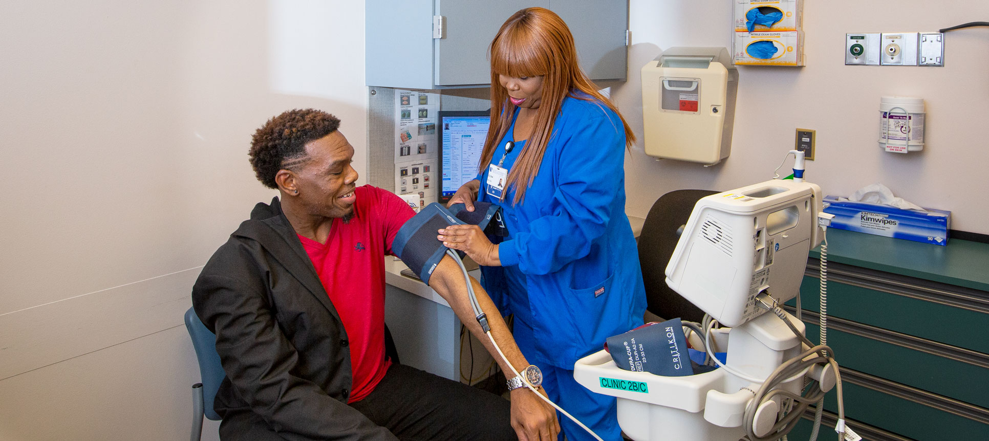 Kenn Wiggins meets with a provider