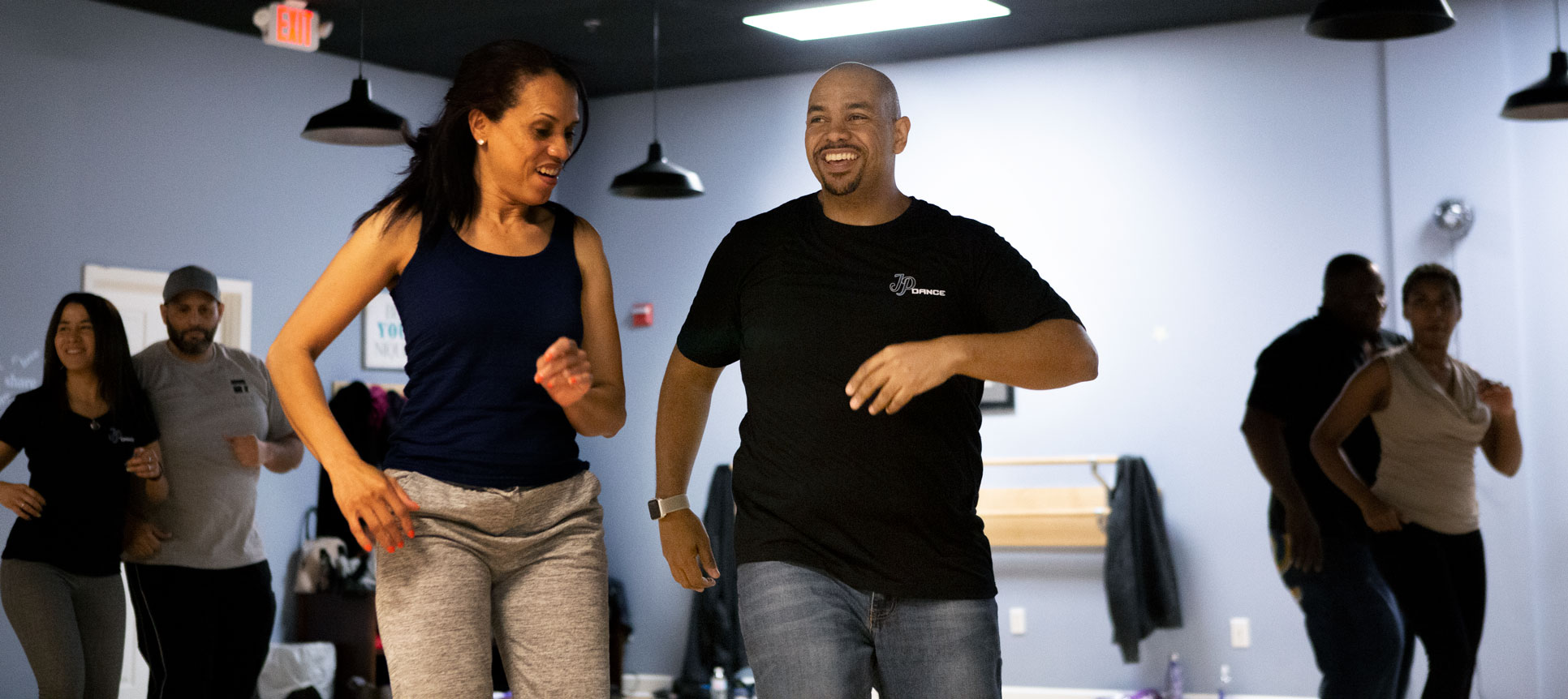 Donald Rice in dance class