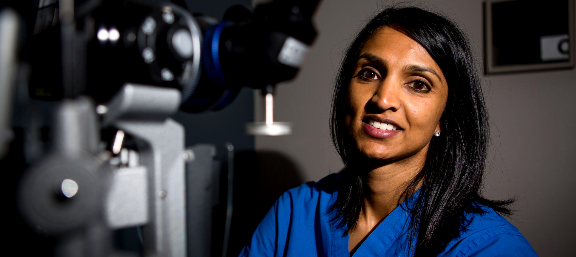 Anupama B. Horne, MD, in an exam room