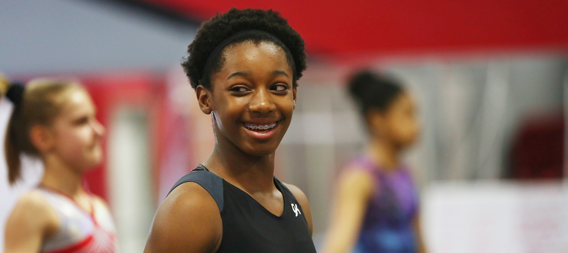 Aya smiling during practice
