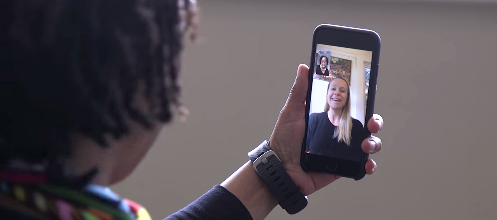 Patient checks in with provider over facetime
