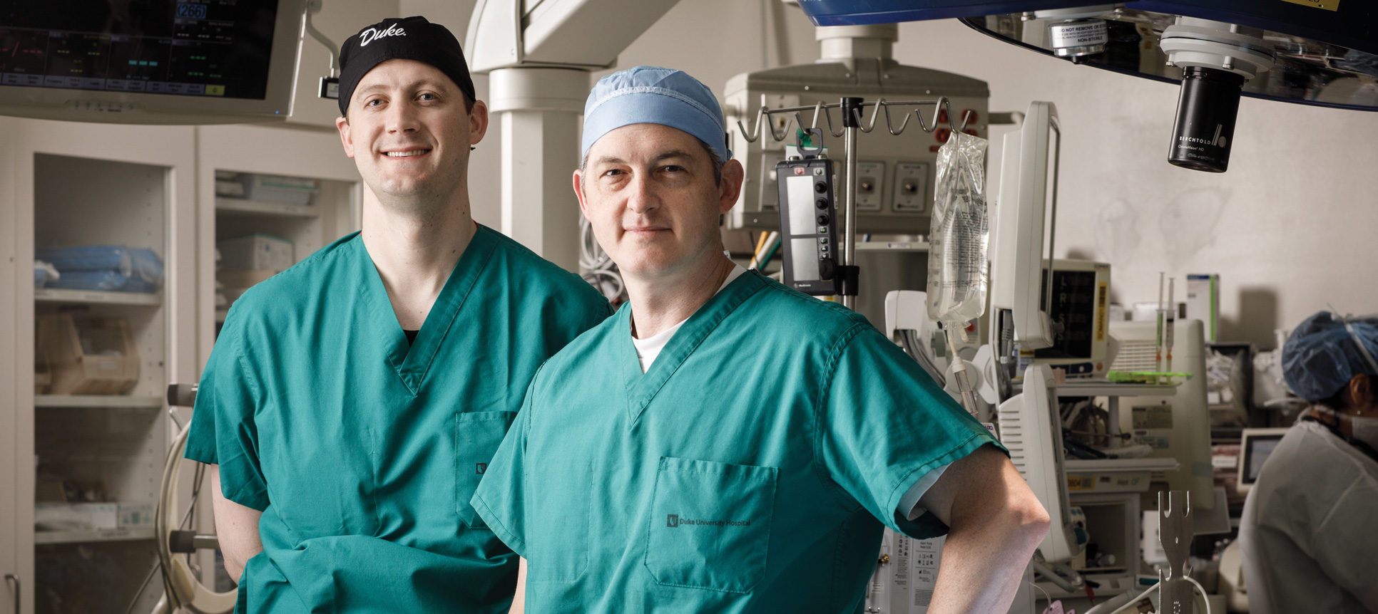 Joseph W. Turek, Md, PhD, chief of pediatric cardiac surgery, is pictured with fellow pediatric heart surgeon Nick Andersen, MD.