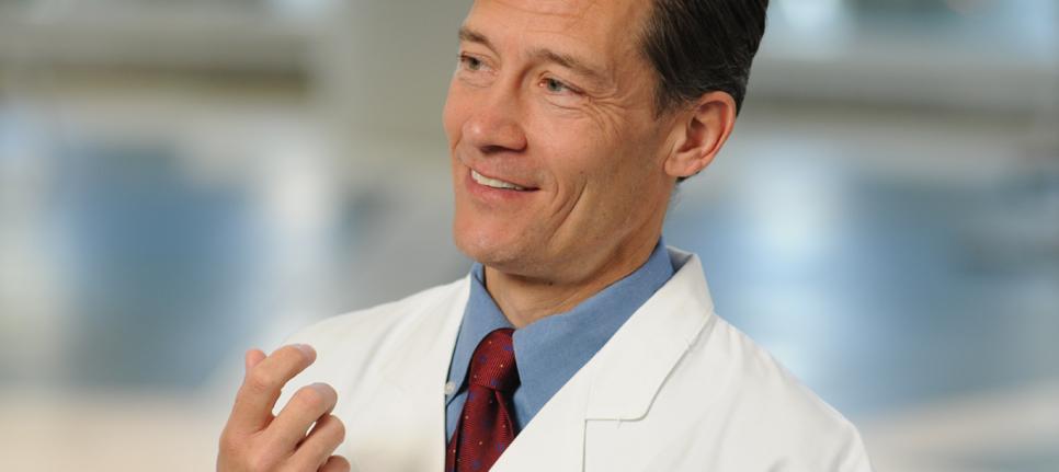 Dr. Tom Povsic runs cardiac stem cell therapy trials at Duke.