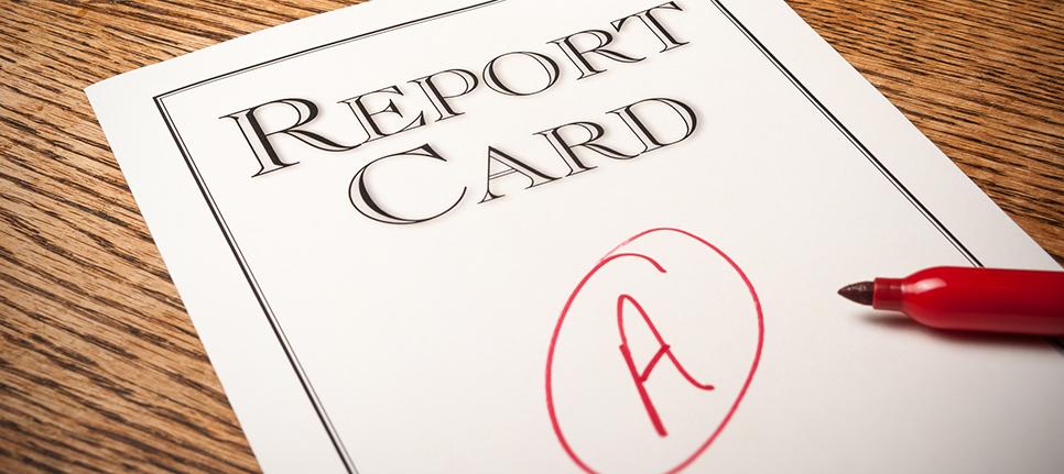 Report card: grade a