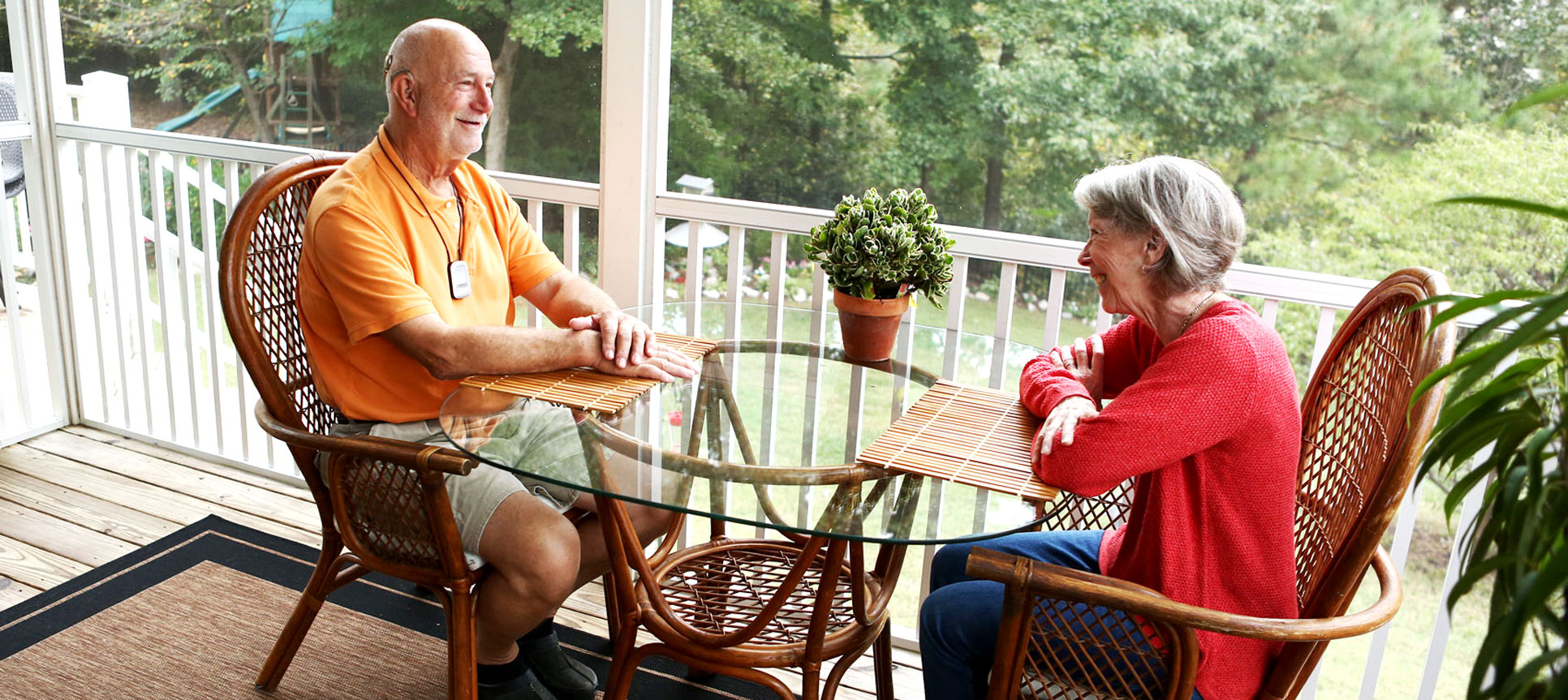 Bryan Seiler can now chat with his wife Amelia during breakfast thanks to his cochlear implant.