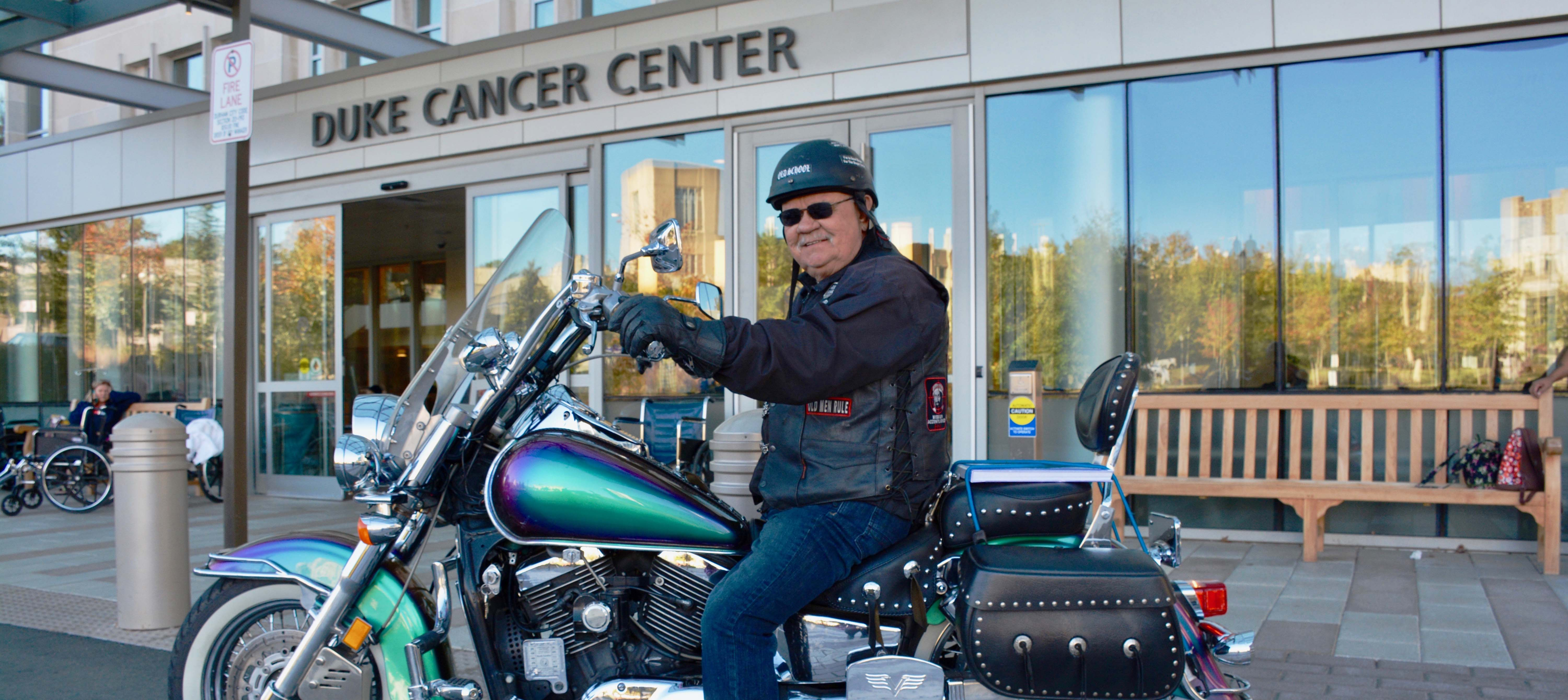 Motorcyclist Ronald Knowles rides again after beating lung cancer