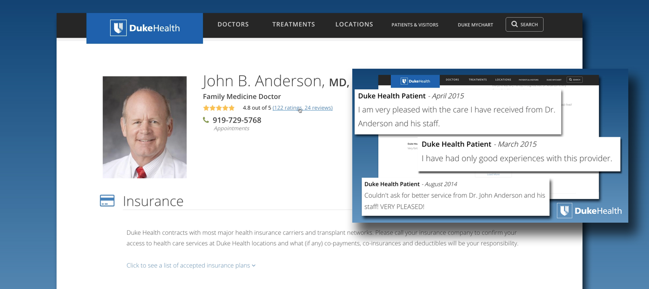 You can now see a provider's star rating along with reviews from their patients.