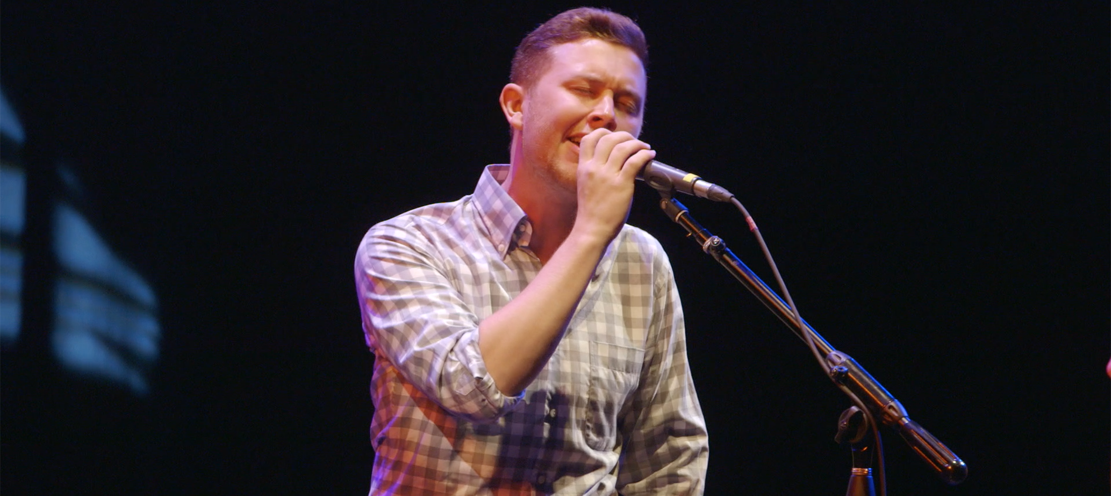 Scotty McCreery sings at Duke's World Voice Day celebration in March