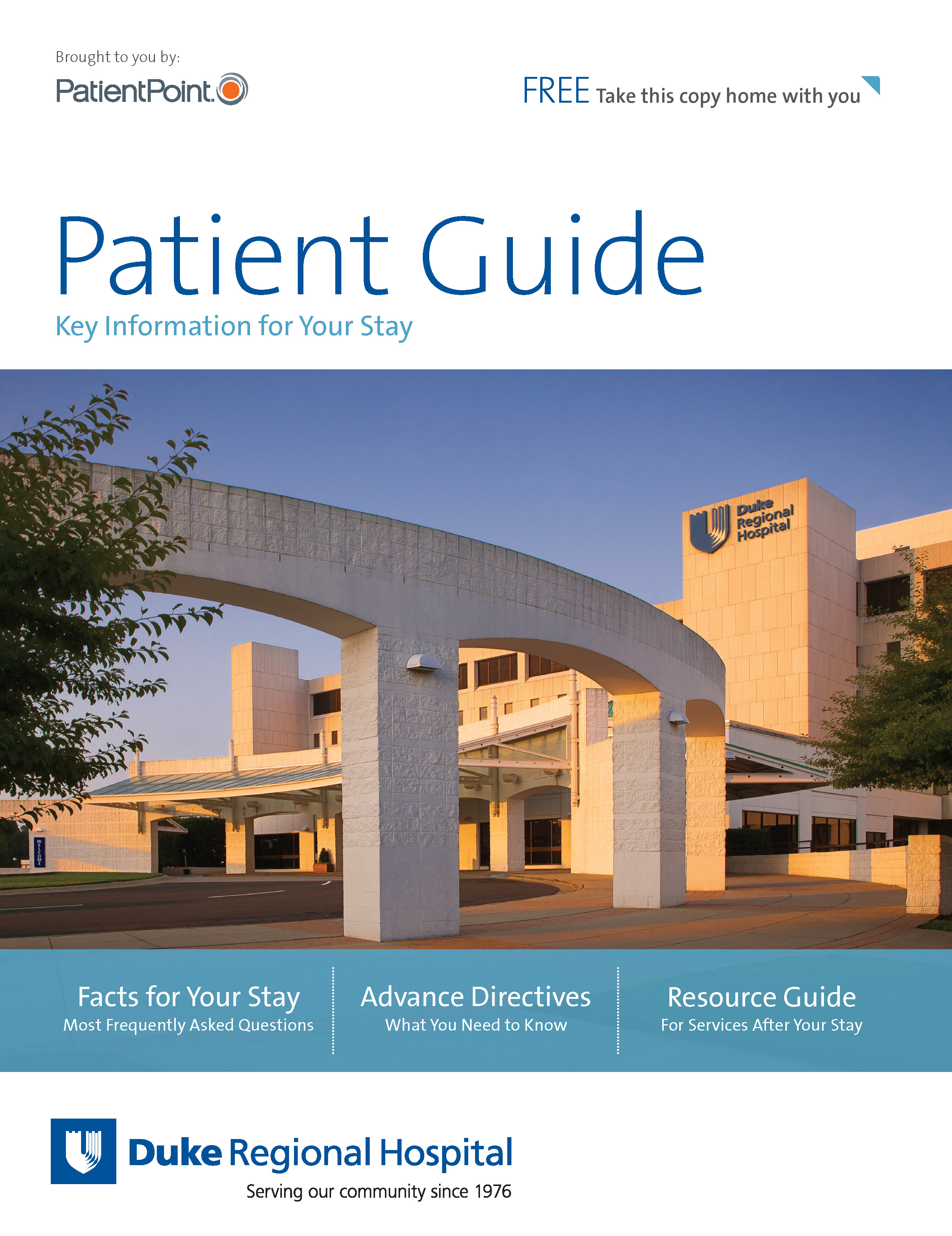 Duke Regional Hospital Patient Guide cover