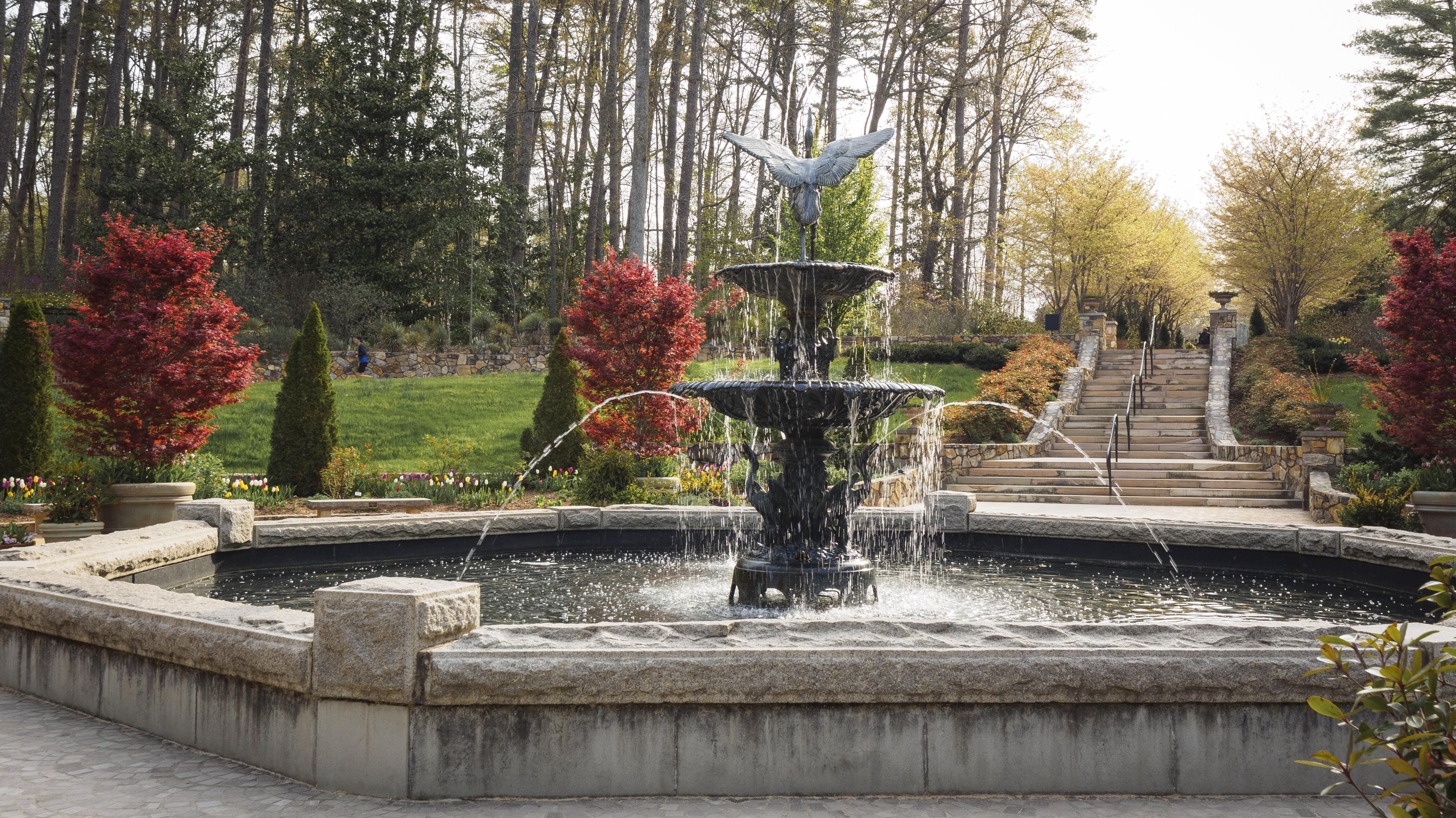 Fountain in Duke gardens