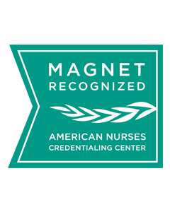Magnet badge from American Nurses Credentialing Center