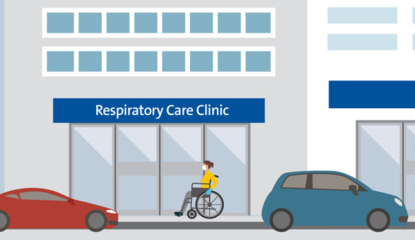 An animation of a respiratory care clinic