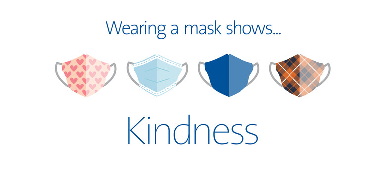 Wearing a mask shows kindness