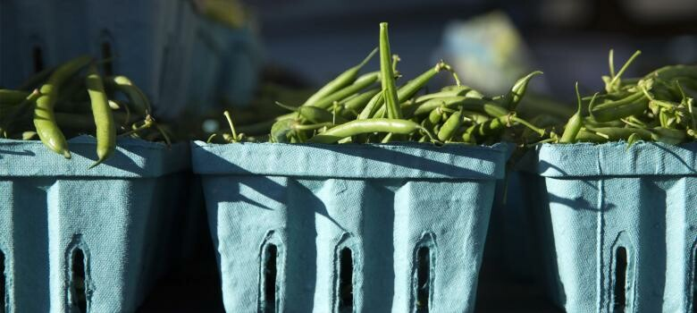 crates of green beans