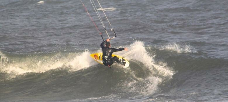 Man wind surfing