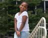 Abrielle smiles outside of Duke Children's Health Center
