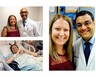A collection of images of Carrie during and after her heart transplant