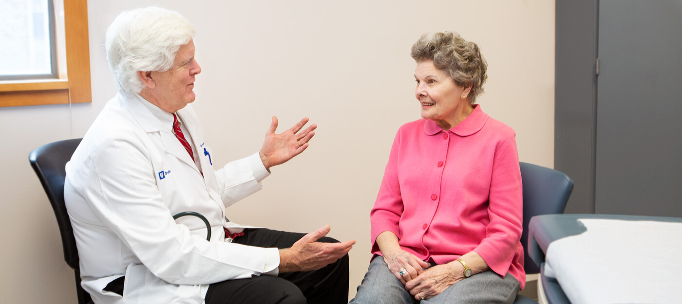 Provider speaking with a patient