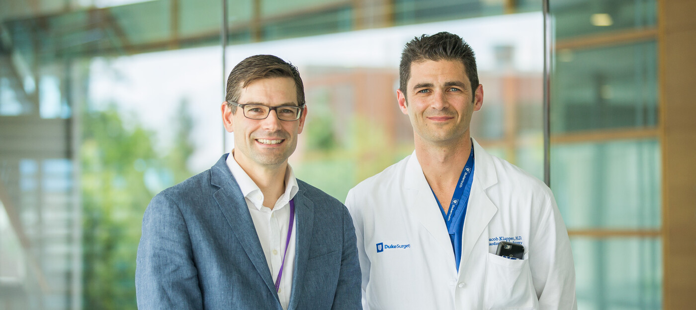 Duke esophageal surgeons, Matthew Hartwig, MD and Jacob Klapper, MD