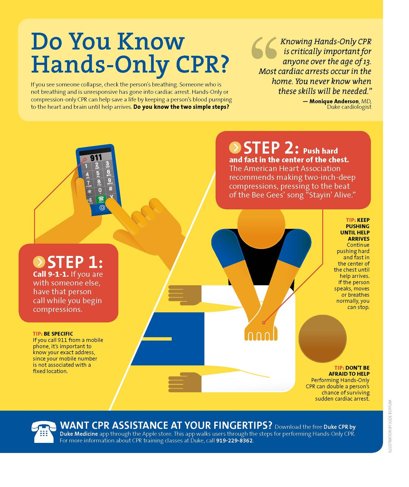 Learn hands-only CPR