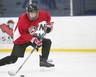 Colby Heath playing hockey