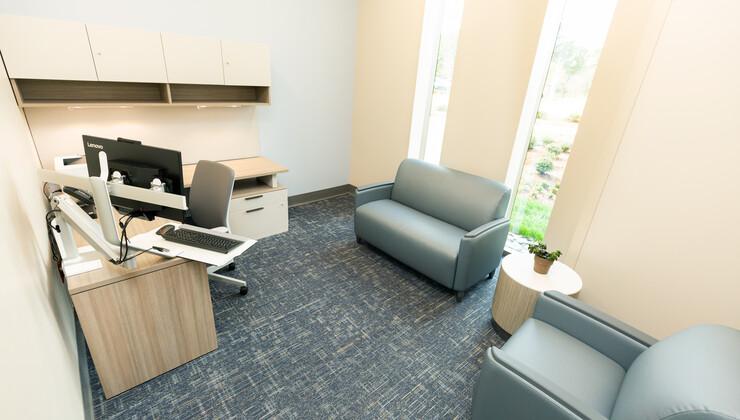 Outpatient room at Duke Behavioral Health North Durham