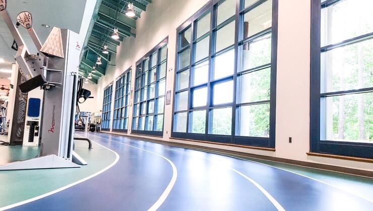 Duke Health & Fitness Center indoor track