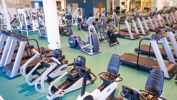 Duke Health & Fitness Center cardio equipment