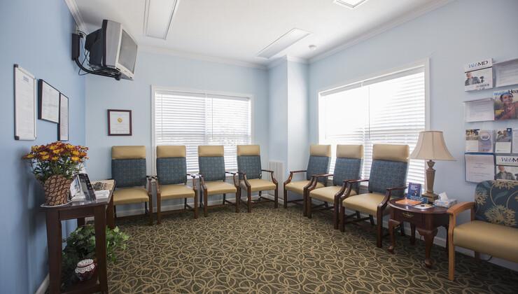 Duke Primary Care Wakelon waiting room