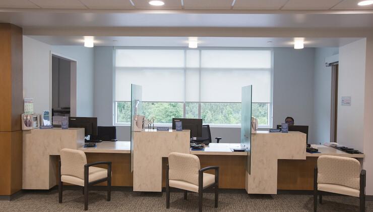Duke Health Center South Durham checkout desks