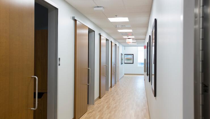 Duke Health Center South Durham hallway