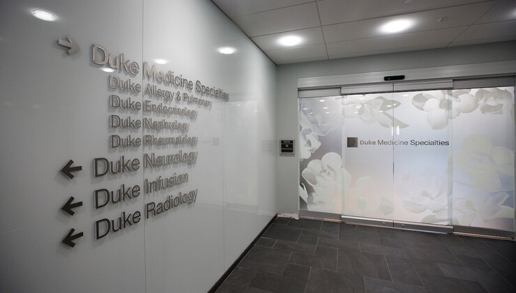 Duke Health Center South Durham Internal Sign