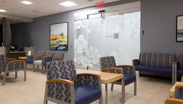 Duke Neurology South Durham waiting room
