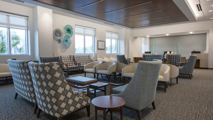 Duke Health Heritage waiting room