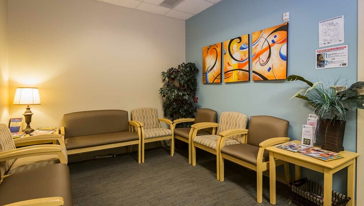 Duke Physical Therapy and Occupational Therapy at Brier Creek waiting room
