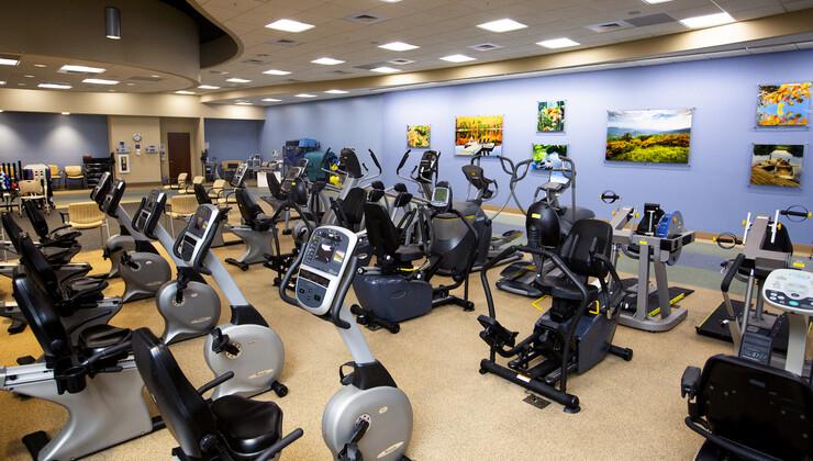 Cardio Equipment at Duke Cardiopulmonary Rehabilitation at Croasdaile