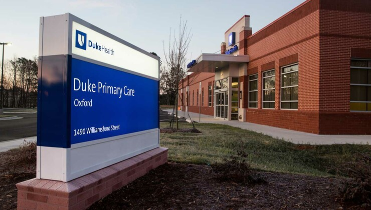 Duke Primary Care Oxford Signage and Exterior
