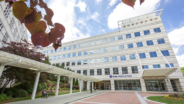 Duke Orthopaedics of Raleigh is located on the Duke Raleigh Hospital campus in the Duke Medicine Plaza.