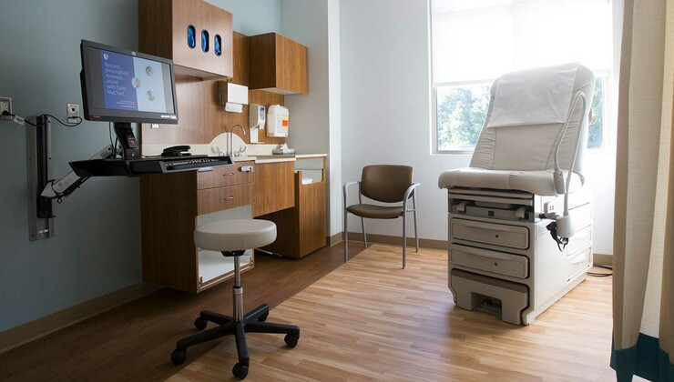 Exam Rooms at Duke Primary Care Midtown
