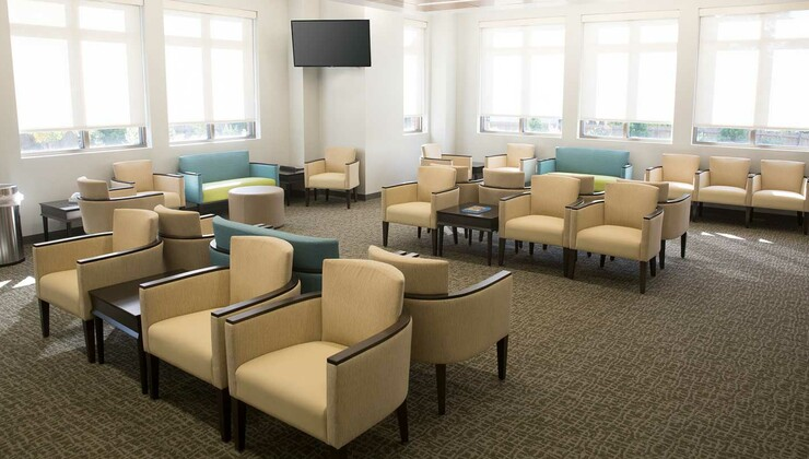 Waiting area of Duke Primary Care Midtown