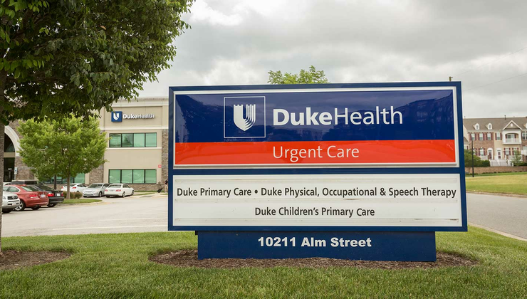 Duke Urgent Care Brier Creek is conveniently located near the Brier Creek Shopping Center at 10211 Alm Street in Raleigh, NC.