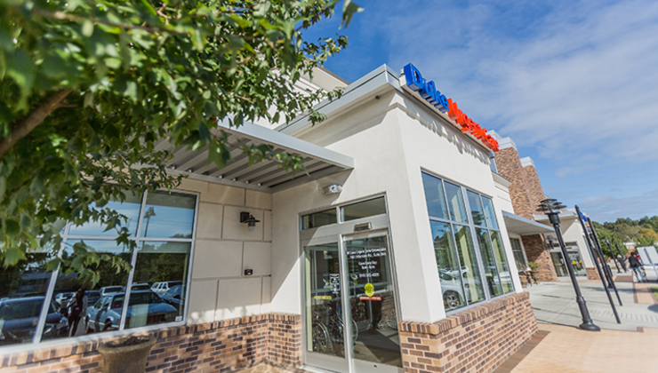 Duke Urgent Care Croasdaile is located at 1821 Hillandale Road in Durham.
